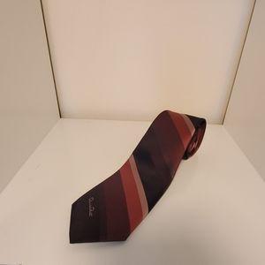 Oscar de la Renta Mens Diagonal Stripe Tie